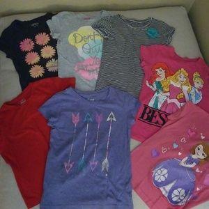 7  girls  size 7/8 tshirts